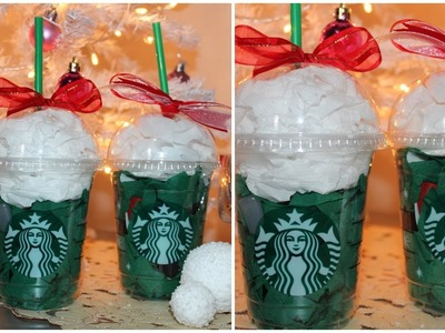 12 DIYs of Christmas : Gift Wrap using Starbucks cups