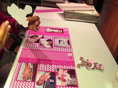 2 12x12 page scrapbook layout of my new Granddaughter