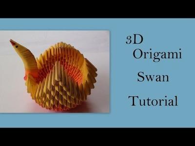 3D Origami Swan Tutorial