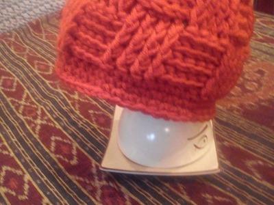 Basketweave beanie DIY. czapka na szydełku. crochet beanie.how to make basket weave stitch