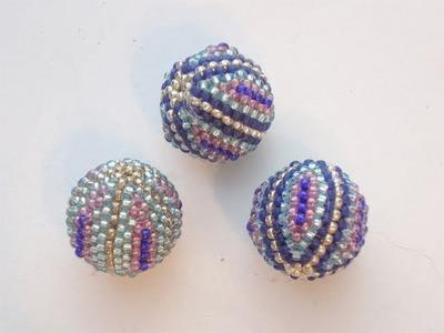 BeadsFriends: Beaded bead - Embrace Beaded Bead with Seed beads ^___^ | Beaded Jewelry