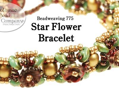 Beadweaving: Star Flower Bracelet