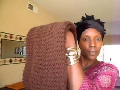 Brown Crochet Infinity Cowl