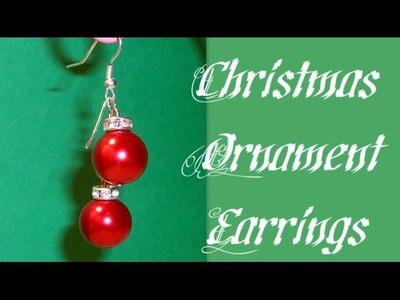 Christmas Ornament Earrings Beading Tutorial by HoneyBeads1
