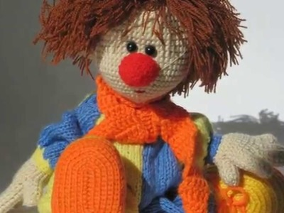 Crochet Clown Doll and Soft Toy