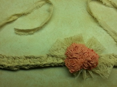 #Crochet Fabric Shabby Chic Crochet Baby Headband #TUTORIAL Gift