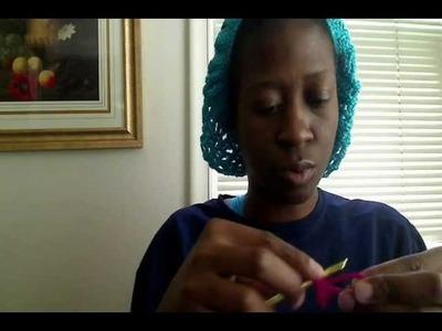 Crochet purse handle tutorial