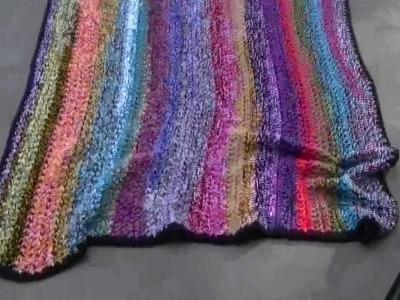 Crochet scrap afghan
