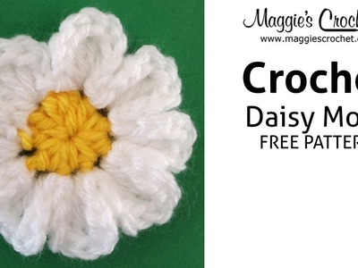 Daisy Motif Free Crochet Pattern - Right Handed