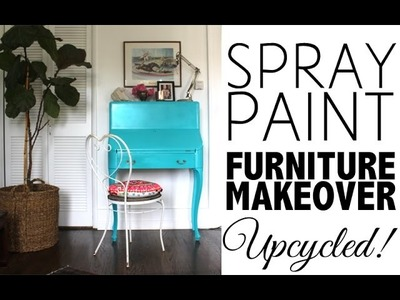 Decor DIY |  Spray Paint Furniture Makeover