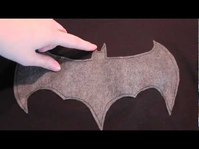 DIY BatMan Shirt With Cape!