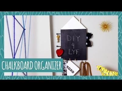 DIY Chalkboard Organizer- HGTV Handmade