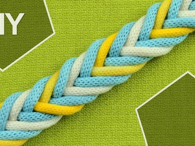 DIY: Easy 8-Strand Flat Arrow Braid in 3 colors