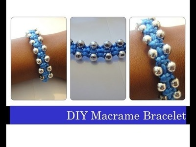 DIY Macrame Bracelet. Beaded Stackable Bracelets Arm Candy