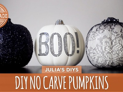 DIY No Carve Lace & Glitter Pumpkins - HGTV Handmade