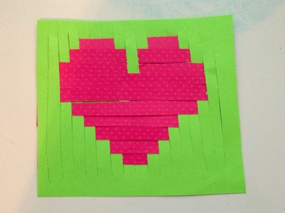 DIY Valentine PiXEL heart CARD