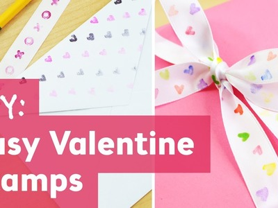 Easy Valentine Stamps : Valentine's Day DIY