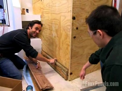 Faux Stone Wall Built by Money Hunters | DIY Network