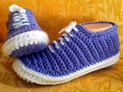 Free knitting video for unisex slippers for men or women,Knitted slippers for beginners