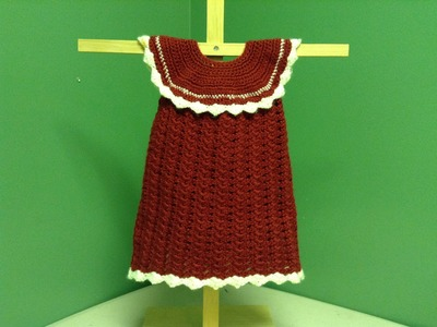 How to Crochet a Baby Christmas Dress