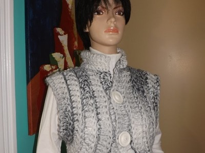 How To Crochet A Very Easy  Vest,
