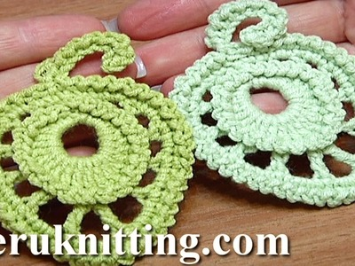 How To Crochet Round Leaf With Trim Tutorial 14