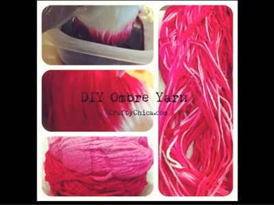 How to Dye a Skein of Yarn || DIY Project