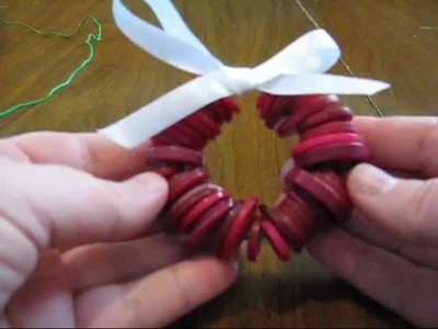How To Make A Button Wreath Ornament Kids Craft