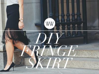 How to Make a Fringe Skirt