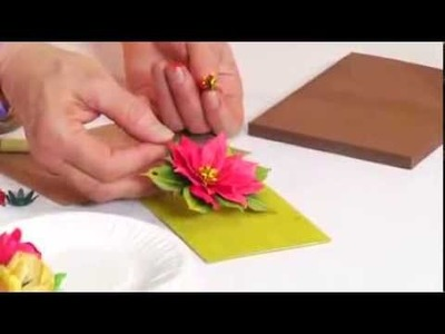 How to Use Sizzix thinlits Poinsettia Flower for Holiday Crafts