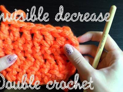 Invisible decrease double crochet - Crochet basics lefthanded