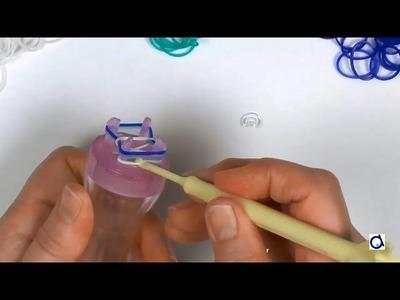 Make a loom bracelet using a knitting spool