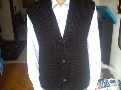 Men's Vest Loom Knitting