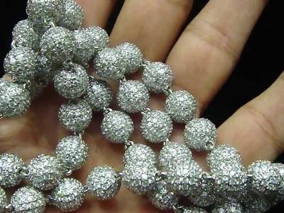 Mr Chris Da Jeweler Custom Lab Made 360 Bead Ball Necklace