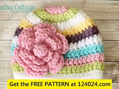 Newborn baby girl crochet hats patterns