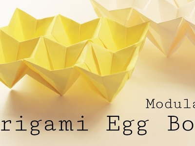 Origami Easter Egg Box Tutorial (Modular)