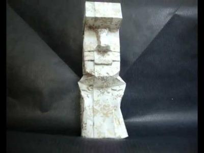 Origami Moai (Easter Island)