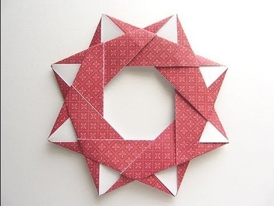 Origami Modular Star Wreath