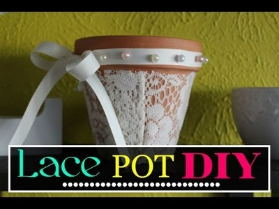 Pixie DIY :: Lace Flower Pots