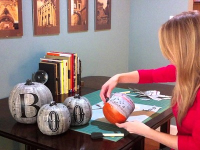 Quick Crafts With Brittany Spriggs: Decoupage Pumpkins