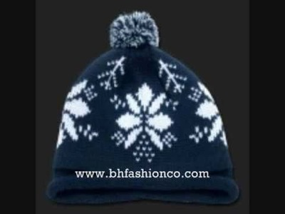SNOWFLAKE BEANIES SKI CAPS HATS WINTER HEADWEAR  -WWW.BHFASHIONCO.COM