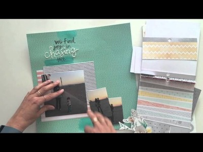 Start to Finish: a scrapbook layout using watercolors, stamps and stickers