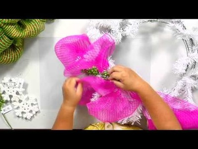 The Joy of Crafting 195.3 - Deco Mesh Holiday Wreath