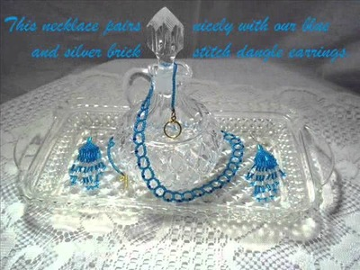 Turquoise Glass Seed Bugle Beaded Necklace Fine Jewelry