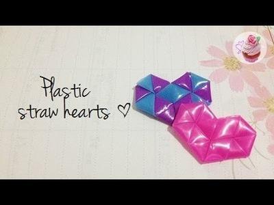 Valentine's DIY: Plastic straw hearts