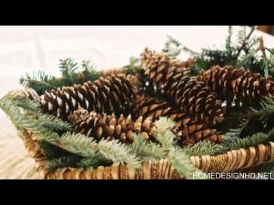 15 Inspirational Nature crafts for your Christmas table decorations