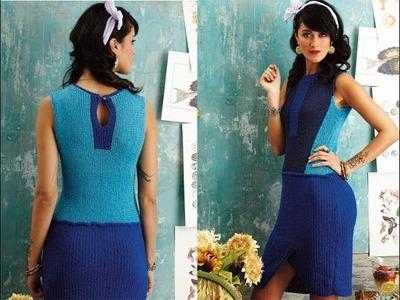 #17 Sheath Dress, Vogue Knitting Spring.Summer 2014