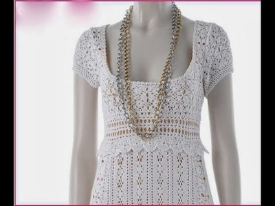 (4) Lace Crochet Clothes Dress Models Patterns Designs New Fashion