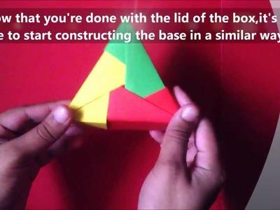 #4 - USEFUL Modular Origami Triangle Box!