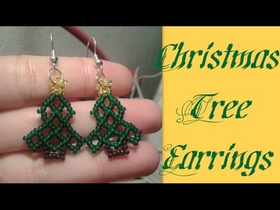Christmas Tree Earrings Beading Tutorial by HoneyBeads1